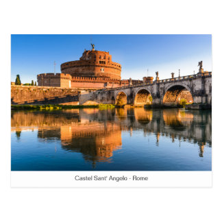 Postcard with Castel Sant' Angelo in Rome