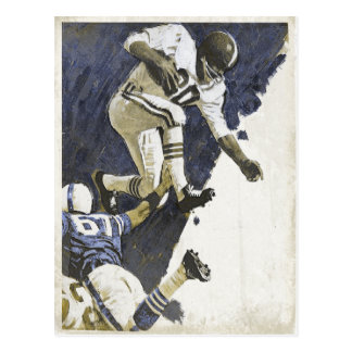 Postcard with Cool Action Packed Football Print