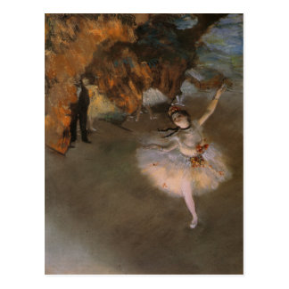 Postcard With Edgar Degas Painting