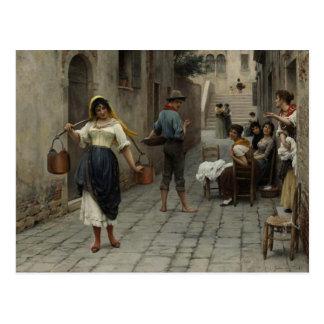 Postcard With Eugene de Blaas Painting