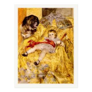 Postcard With Famous Painting