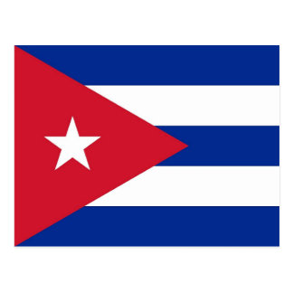 Postcard with Flag of Cuba