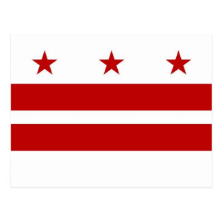 Postcard with Flag of Washington DC- USA