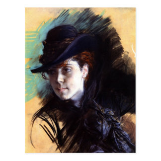 Postcard With Giovanni Boldini Painting