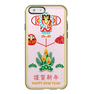 Postcard With Japanese New Year Symbols As Wish Incipio Feather® Shine iPhone 6 Case