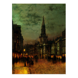 Postcard With John Atkins Grimshaw Painting