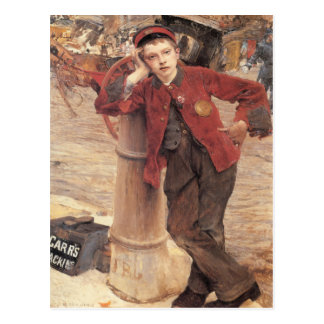 Postcard With Jules Bastien-Lepage Painting
