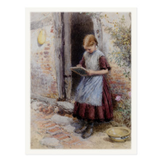 Postcard With Myles Birket Foster Painting