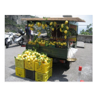 Postcard With Picture of Sorrento Lemon Stall