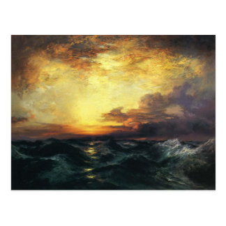 Postcard With Thomas Moran Painting