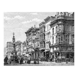 Postcard with vintage image of San Francisco