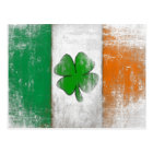 Postcard with Vintage Irish Flag