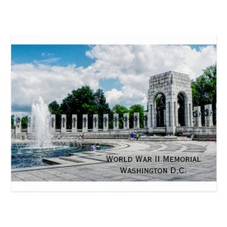 Postcard World War II monument