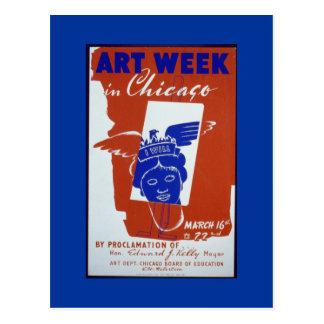Postcard-WPA Chicago-Art Week 1941 Postcard