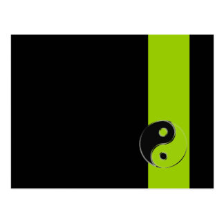 Postcard Yin Yang Black/Green Anise