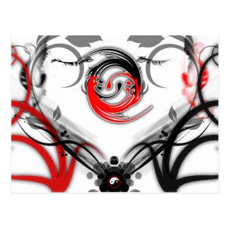 Postcard yin yang love