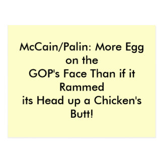 Postcards, egg on GOP's face Postcard