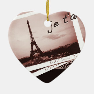 Postcards from Paris Bonjour Custom Ornament
