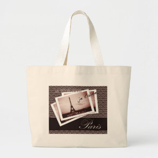 Postcards from Paris Large Tote Bag