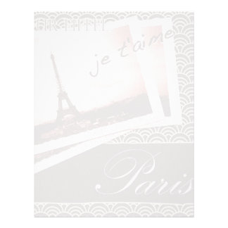 Postcards from Paris Paper Customized Letterhead