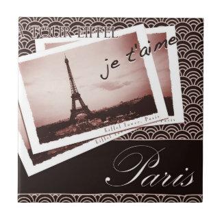 Postcards from Paris Vintage Design Tile