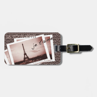 Postcards from Paris Vintage Photograph Luggage Tag
