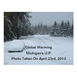 Postcards Photo April 23 2013 Global Warming UP MI