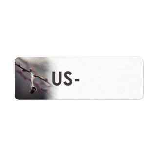 """Postcrossing ID Label """"Feather Weight USA"""""""