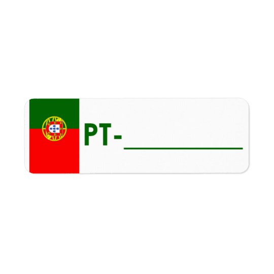 "Postcrossing ID Label Portugal ""Flag Style"" Return Address Label"