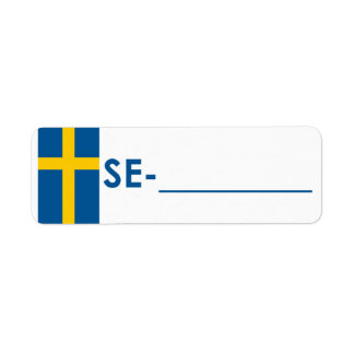 """Postcrossing ID Label Sweden """"Flag Style"""""""
