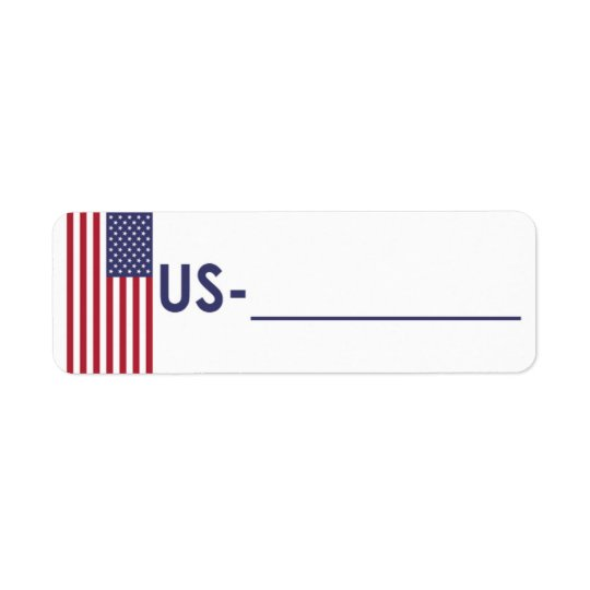 "Postcrossing ID Label USA ""Flag Style"""