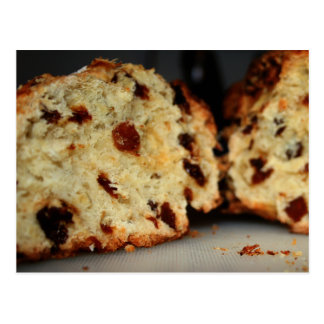 Postcrossing - raisin bread postcard for foodies