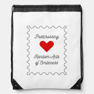 Postcrossing - Random Acts of Smileness Drawstring Bag