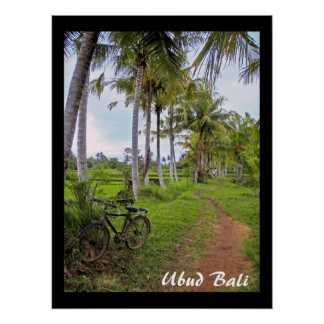 "Poster  (18"" x 24"")  Ubud Bike Bali"