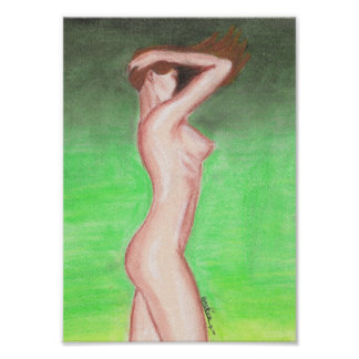 Poster 20x28cm - Naked female - fatty pastel