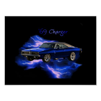 Poster:  '69 Dodge Charger Poster