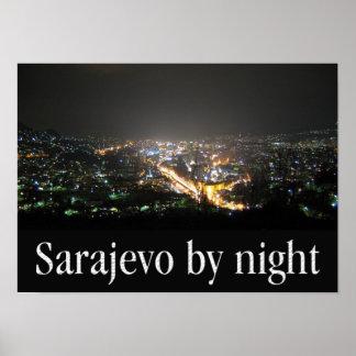 Poster A3 - Sarajevo by night