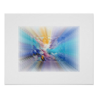 Poster Abstract Blue Infinity