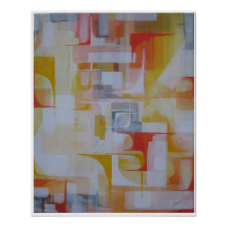 Poster Abstract Corolful Art