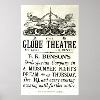 Poster advertising 'A Midsummer Night's Dream'