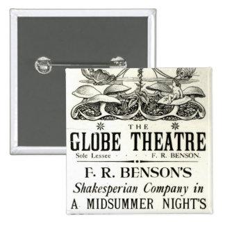 Poster advertising 'A Midsummer Night's Dream' Pinback Buttons