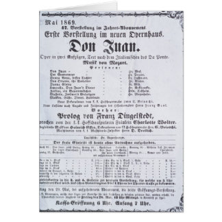 Poster advertising a performance of 'Don Juan' Card
