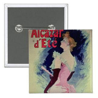 "Poster advertising ""Alcazar d'Ete"" 2 Inch Square Button"