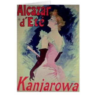 "Poster advertising ""Alcazar d'Ete"" Card"