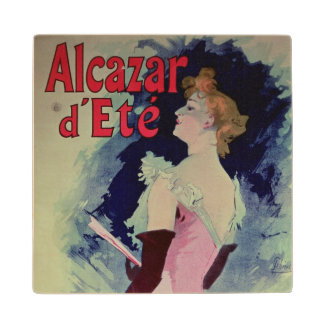 "Poster advertising ""Alcazar d'Ete"" Wood Coaster"