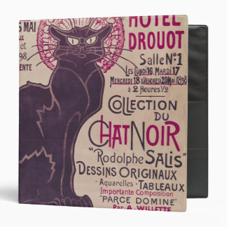 Poster advertising an exhibition 3 ring binder