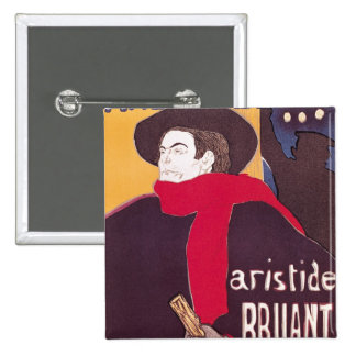 Poster advertising Aristide Bruant 2 Inch Square Button