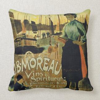 Poster advertising 'Croix de Vie', made by J.B. Mo Throw Pillow