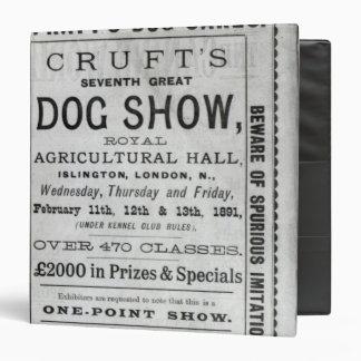 Poster advertising Cruft's Dog Show Vinyl Binders