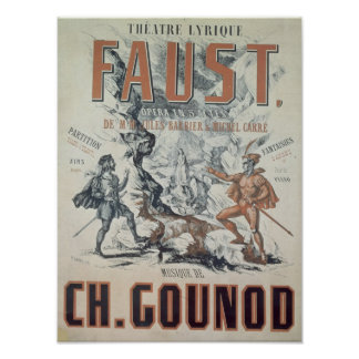 Poster advertising 'Faust'